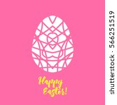 happy easter greeting card... | Shutterstock .eps vector #566251519
