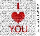 modern 3d heart. happy... | Shutterstock .eps vector #566251819