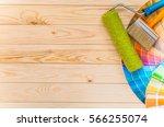 painter and decorator work... | Shutterstock . vector #566255074
