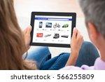 couple tablet online shopping | Shutterstock . vector #566255809