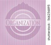 organization vintage pink emblem | Shutterstock .eps vector #566256895