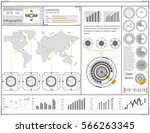futuristic user interface. hud... | Shutterstock .eps vector #566263345