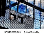 building exterior with two... | Shutterstock . vector #566263687