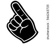 foam finger illustration | Shutterstock .eps vector #566263735