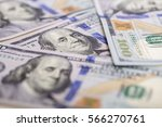 background of  hundred dollar... | Shutterstock . vector #566270761