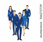 business men and women... | Shutterstock .eps vector #566272729
