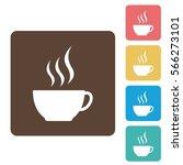 coffee icon in vector format... | Shutterstock .eps vector #566273101