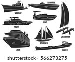 silhouette of naval ships.... | Shutterstock .eps vector #566273275