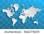 political map of the world.... | Shutterstock .eps vector #566274655
