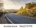 twisted roadways between the... | Shutterstock . vector #566275795