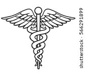 caduceus illustration | Shutterstock .eps vector #566291899