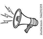 bullhorn illustration | Shutterstock .eps vector #566292355