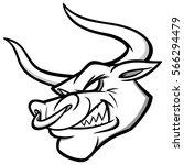 bull mascot illustration | Shutterstock .eps vector #566294479