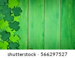 St patricks day side border of...
