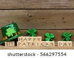 Happy St Patricks Day Wooden...