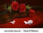 Valentine Violin  Red Roses On...