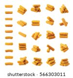 breaded crab stick snacks... | Shutterstock . vector #566303011