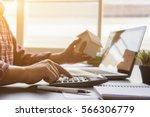 businessman bookkeeper or... | Shutterstock . vector #566306779