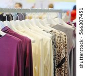 the image of clothes on a... | Shutterstock . vector #566307451