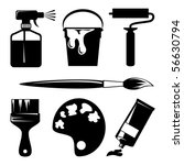 set of vector silhouette icons... | Shutterstock .eps vector #56630794