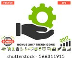 eco green and gray mechanic... | Shutterstock .eps vector #566311915