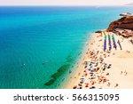 beach in tropea  calabria  italy | Shutterstock . vector #566315095