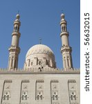 """The big mosque in """"Assuan"""" in Egypt - stock photo"""