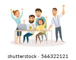 winners in office. business... | Shutterstock .eps vector #566322121