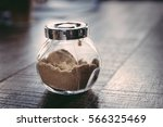 a bottle of brown sugar place... | Shutterstock . vector #566325469