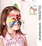 little girl  making face... | Shutterstock . vector #56632732