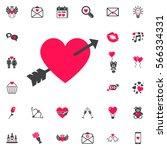 lovestruck or arrow through... | Shutterstock .eps vector #566334331