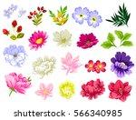 flower set | Shutterstock . vector #566340985
