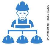 builder management vector icon. ... | Shutterstock .eps vector #566346307