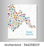 book all line icons color of... | Shutterstock .eps vector #566358019