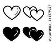 vector set of heart icon | Shutterstock .eps vector #566379157