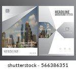 silver abstract annual report... | Shutterstock .eps vector #566386351