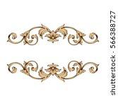vintage baroque ornament retro... | Shutterstock .eps vector #566388727