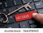 closed up finger on keyboard... | Shutterstock . vector #566398405