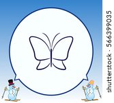 butterfly icon  vector... | Shutterstock .eps vector #566399035