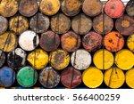 a stack of petroleum barrels... | Shutterstock . vector #566400259