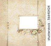 old frame on victorian...   Shutterstock . vector #56640424