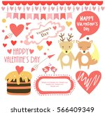 valentines day set | Shutterstock .eps vector #566409349