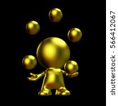 Golden Character Juggling Five...