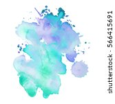 abstract hand drawn watercolor... | Shutterstock .eps vector #566415691