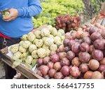 fruits market | Shutterstock . vector #566417755