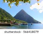 jalousie beach  gros piton  st. ... | Shutterstock . vector #566418079