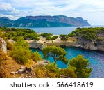 calanque between marseille and...   Shutterstock . vector #566418619