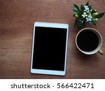 digital tablet with blank... | Shutterstock . vector #566422471
