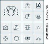 set of 12 business management...   Shutterstock .eps vector #566423701