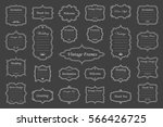 vector set of vintage isolated... | Shutterstock .eps vector #566426725